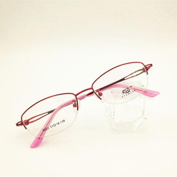Eyesilove fashion women myopia glasses customized myopia eyeglasses half-rim frame prescription glasses red -0.50 -1.00 to -6.00