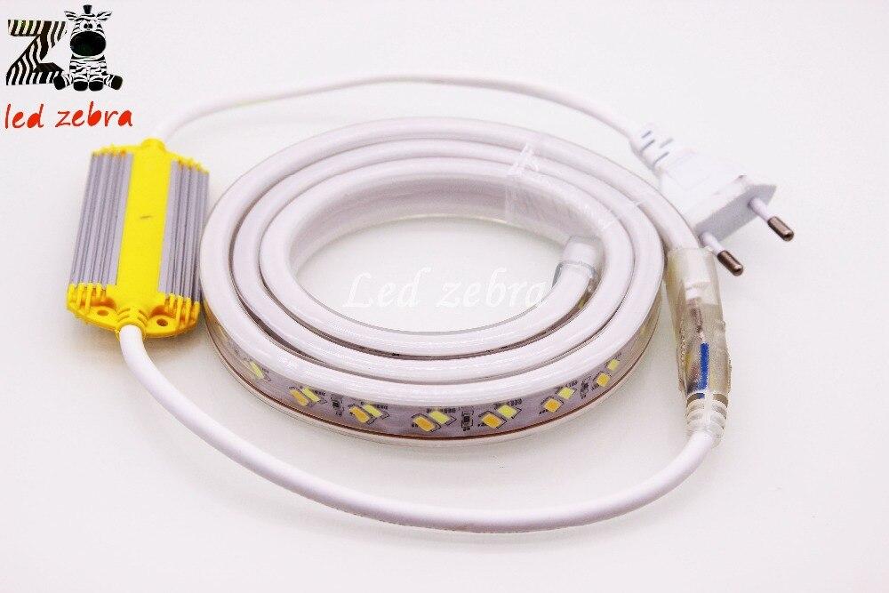 Super lumineux ca 220 v 5730/5630 smd 120led/m a mené la lumière de bande, 50 m/100 m blanc/chaud blanc oblique pâte puce a mené la bande avec la prise de l'ue