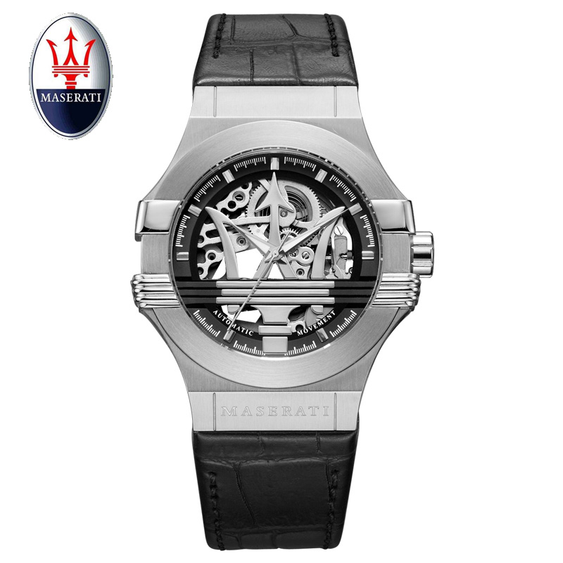 Maserati new men's automatic mechanical watch tourbillon luxury fashion brand leather men's multi-function watch часы maserati