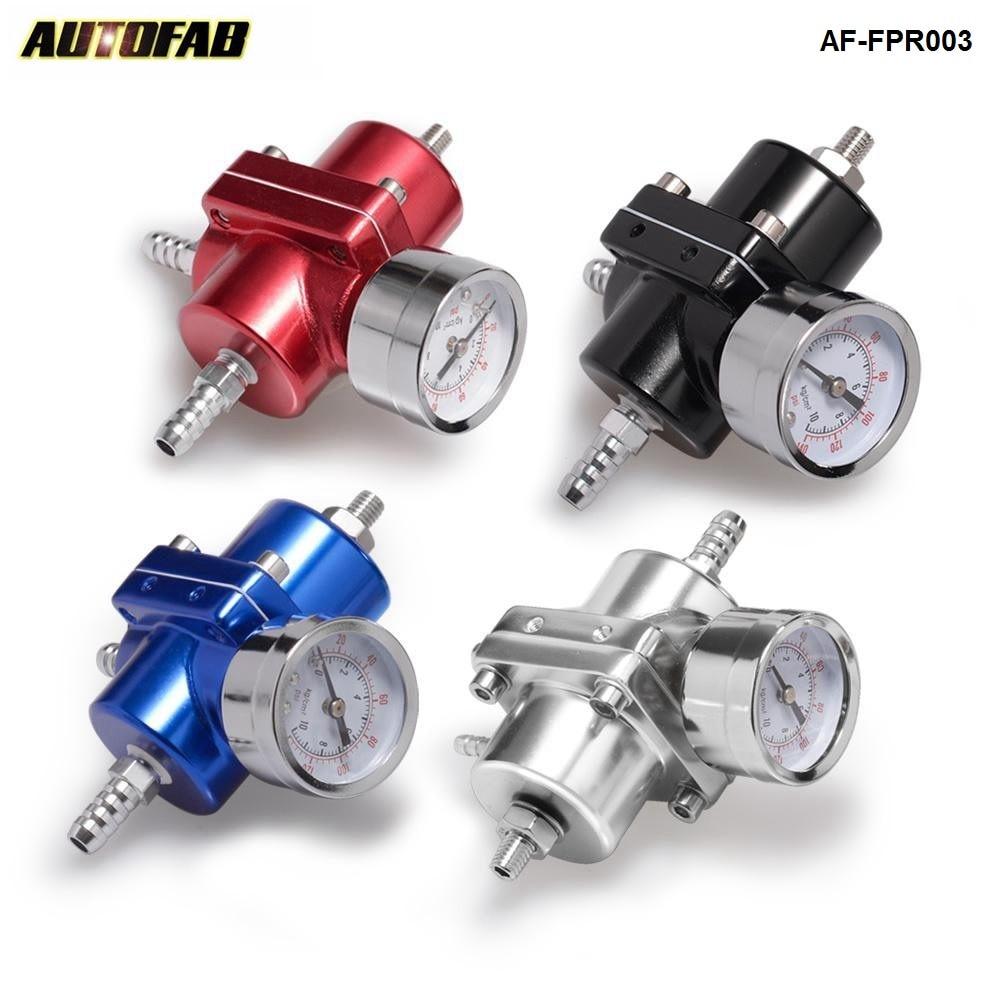 Adjustable FueL Pressure Regulator FPR 0-140 Psi Oil Gauge+Hose Kit(Default Red)Universal Jdm For Honda Crv AF-FPR003