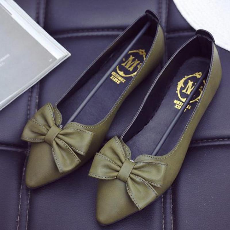 Fashion Spring Summer Slip On Loafers Women Flat Bow Pointed Toe Boat Shoes Lazy Shoes Comfortable Ballet Flats 2018 New Arrival ladies shoes fashion rhinestone bow women flats spring slip on loafers women pointed toe flat shoes waman black brown flats