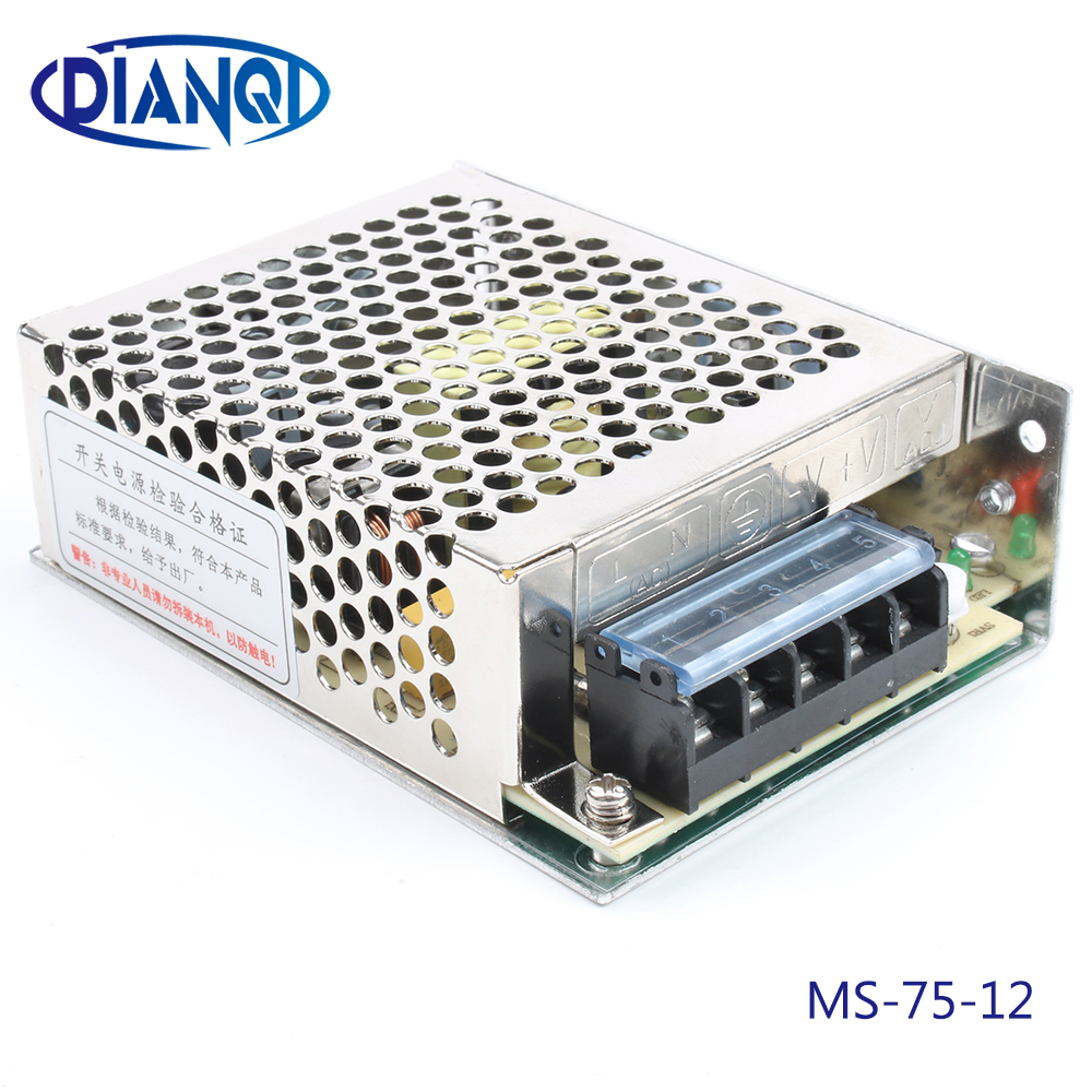 power supply 75W 12v 6.2a mini size ac dc converter power supply unit ms-75-12 12v variable dc voltage regulator image
