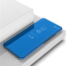 OPPOA3S Mirror Flip Case For OPPO A3S A 3S Luxury Clear View PU Leather Cover Smart phone