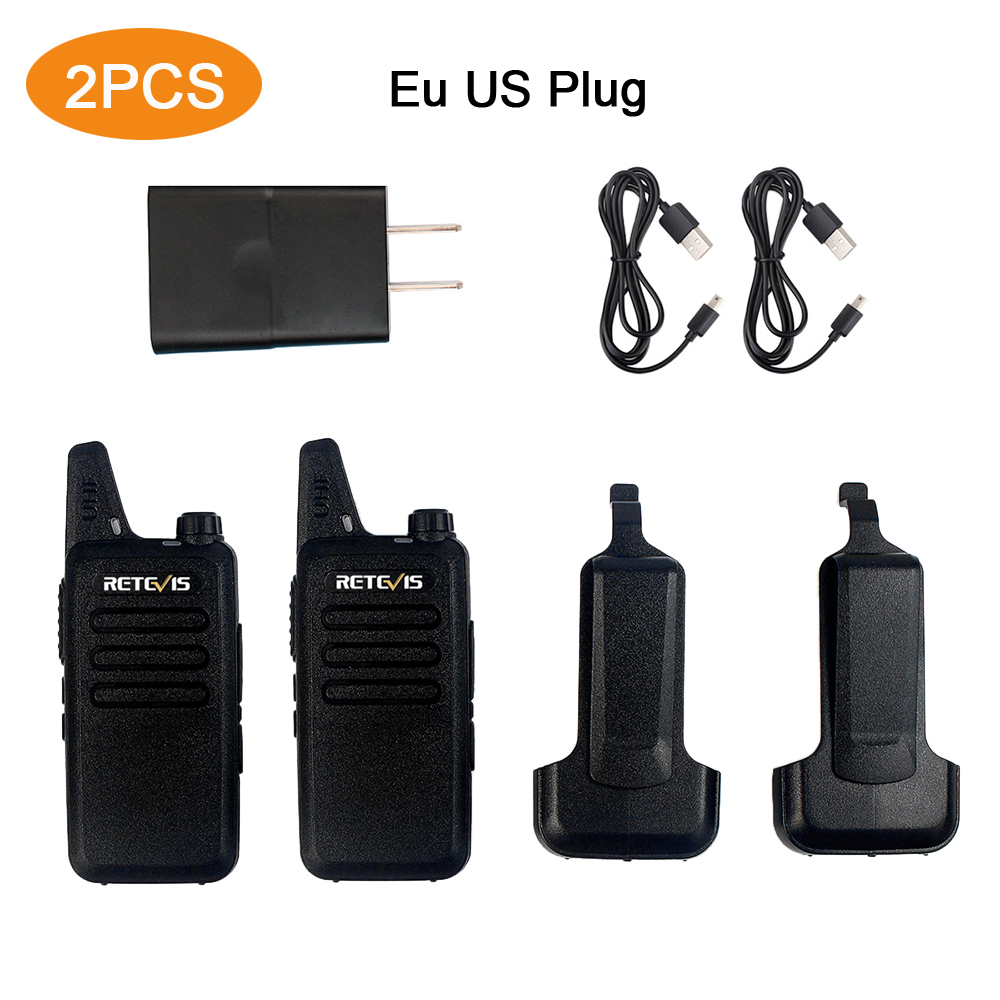 2 stücke Retevis Walkie Talkie RT22 Handheld Intercom 400-480 mhz 2 watt 16 Kanäle VOX PTT Zivilen Zwei -weg Radio Eu UNS Stecker