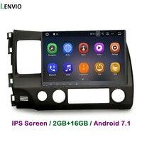 Lenvio 2 г оперативная память Android 7,1 автомобиль радио gps навигации для Honda CIVIC 2006 2007 2008 2009 2010 2011 DVD плеер автомобиля аудио BT DAB ips