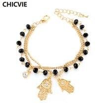 Chicvie золотой цвет сглаза браслеты для рук женщин известный