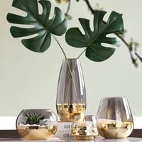 Modern minimalist light luxury glass vase decoration Nordic home living room table flower arrangement water flower flower set