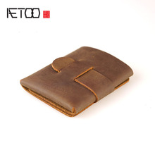 AETOO A leather wallet features an alternative original minimalist design crazy horse