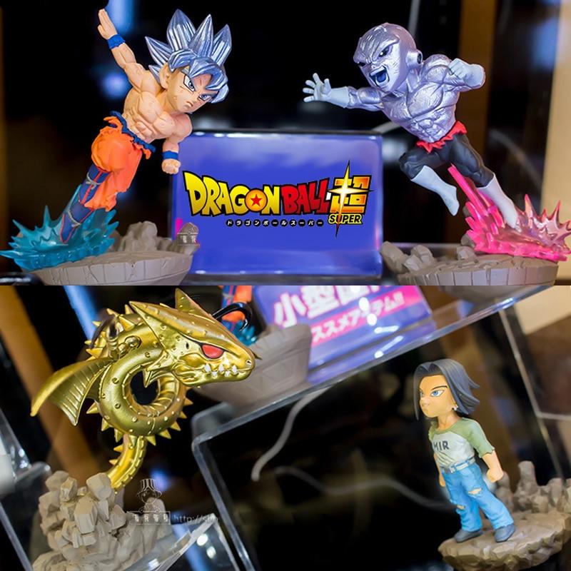 100 Original Dragon Ball Super Goku Ultra Instinct JIREN Broli PVC Action Figure Scene Model Pendant