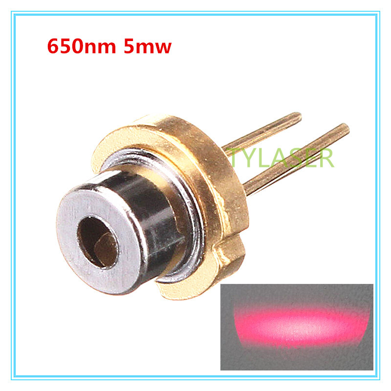 Low Power 650nm Red 5mW D5.6mm Laser Diode N Type With PD Feeback