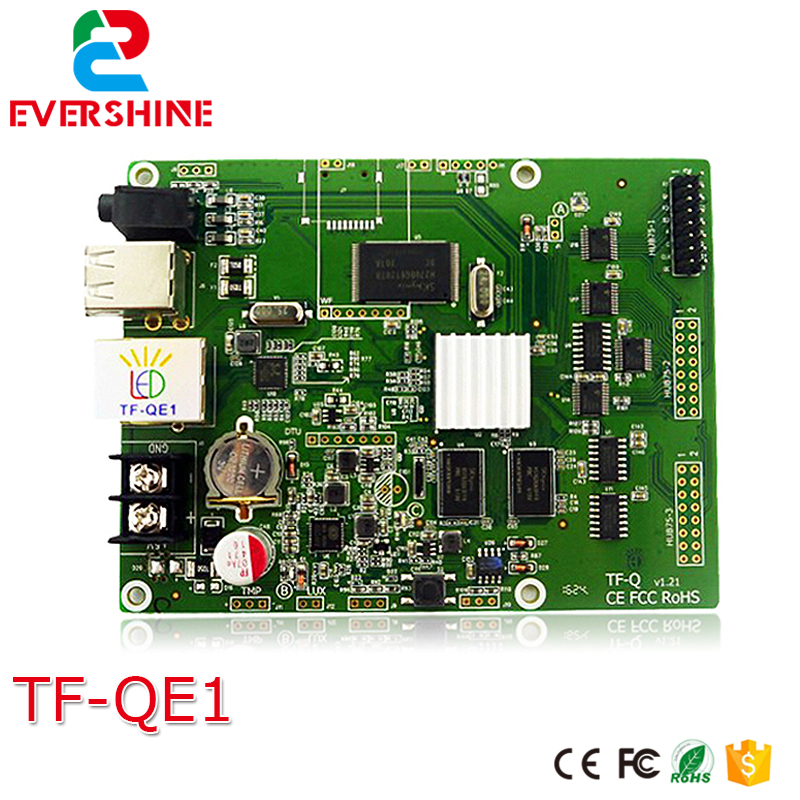 TF-QE1 LED Display Screen Control Card Full color 1536x128 512x384 Pixels 1-32 scan Led Cascade video card