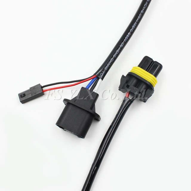 FSYLX 2pc H13 HID Relay Harness HI/LO bi Xenon H13 Wiring Wire 12v on
