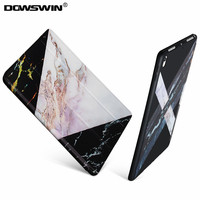 For IPad Pro 10 5 Case Marble Pattern Tri Fold PU Leather Front Smart Cover Can