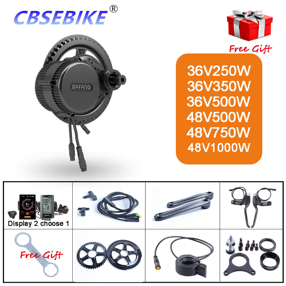 36V 250W 350W 500W 48V 500W 750W 1000W Electric Bicycle Bike Ebike Conversion Kit Bafang BBS01