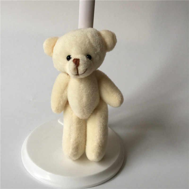 ad2a8dd89e5 ... Cute Mini Teddy Bear Plush Toys Lovely Joint Bear Dolls DIY Flower  Bouquet Wedding Party Decor ...