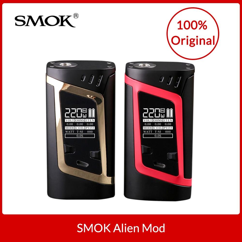 Originale SMOK Alien Mod 220 W VW/TC Modalità sigaretta Elettronica smok alien vape mod Per tfv8 bambino bestia serbatoio 3 ml