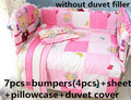 Promotion! 6/7PCS baby bedding set curtain berco,Duvet Cover, crib bumper baby bed set,120*60/120*70cm