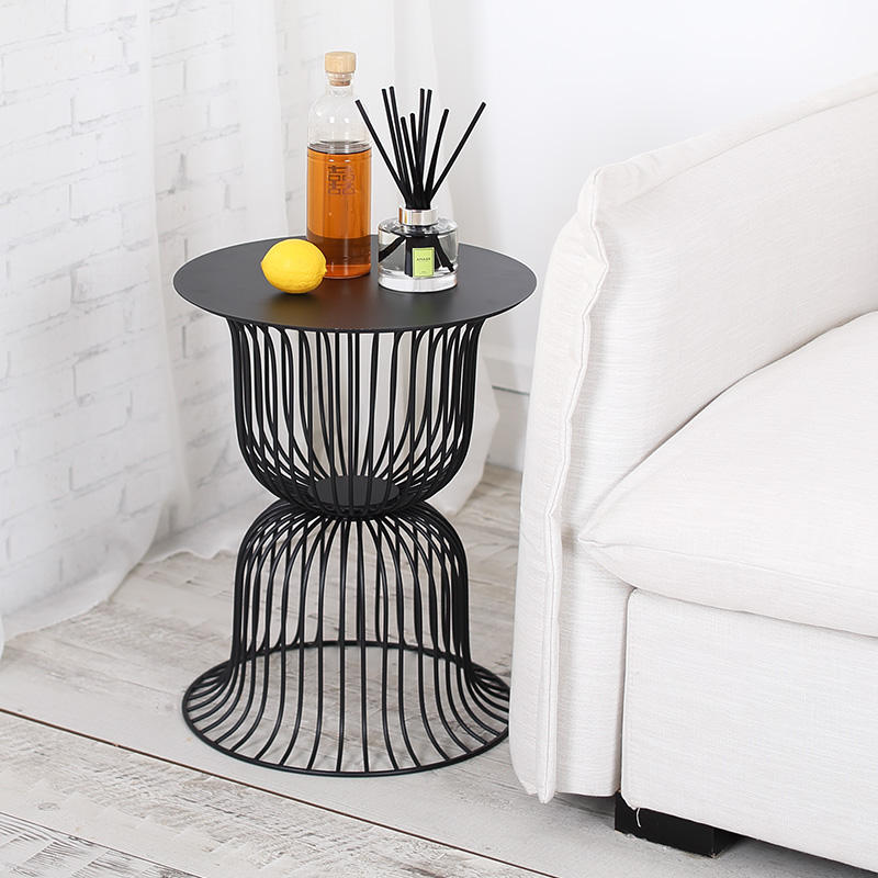 Sofa Side Table Living Room Corner Table Round Shelves Post-modern Multi-function Small Round Table