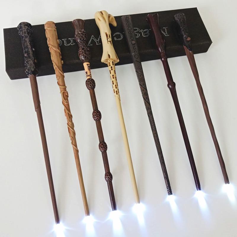 LED Harry Potter Wand Illuminating Wand Hermione Snape Dumbledore Voldemort Malfoy Magic Wand In Gift Box 18 Styles