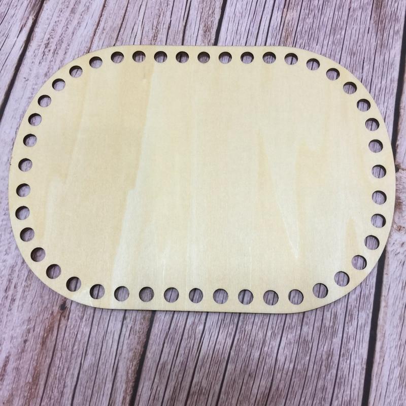 Set Of 3pcs Rectangle 20x15cm/7.8x5.9in Wooden Bottoms For Crochet Basket Wooden Bottom For Knitting Diy Handmade Gift