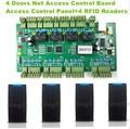 Los Usuarios WG2004 TCP/IP Cuatro 4 Puerta de Acceso Del Controlador 20 K 100 K Eventos + 4 UNID Lector RFID