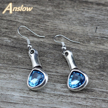 Anslow Aliexpress Korean Sweet Style Best Selling Female Lady Crystal Heart Love Earrings Handmade Rope Women Earring  LOW0126AE