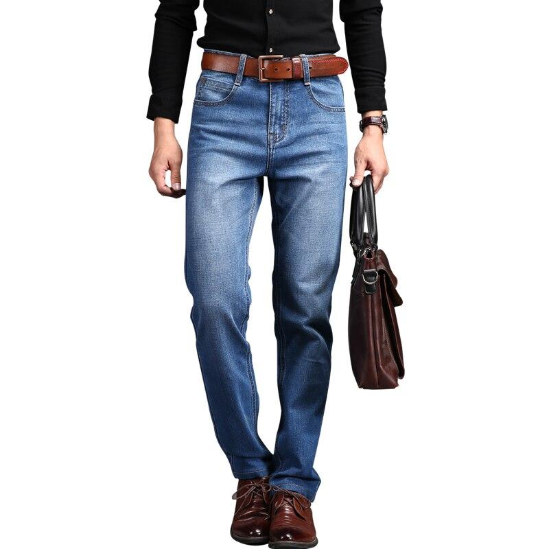 Men Jeans 2017 Spring New Jeans Men Straight Leg Denim Trousers Slim Men s Pants Thin
