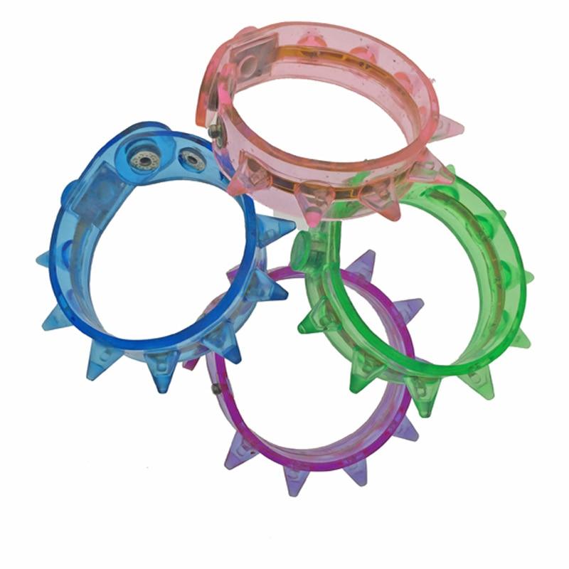 12pcs/lot LED bracelet toy light up flashing bracelet for birthday party supplies led colorful toys plastic blinking wrist band