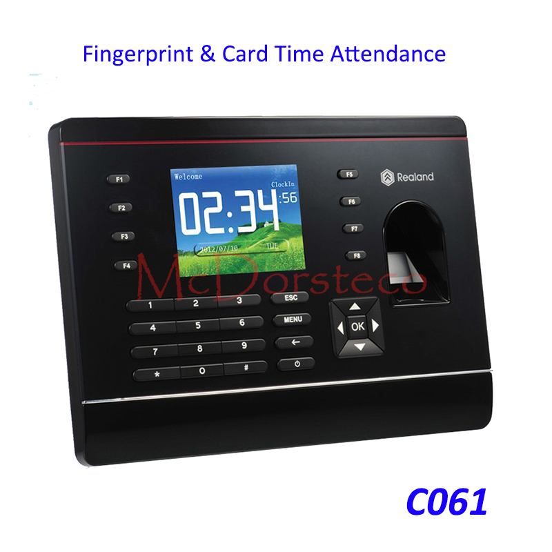 A-C061 TCP/IP Biometric Fingerprint Time Attendance Card Time Clock Recorder Attendance Employee Electronic Time Recording