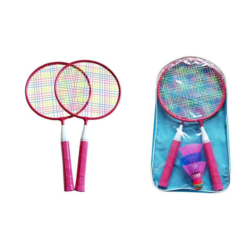 Carbon Fiber Resistant Badminton Racket 2PC Beat + Backpack +3PC Badminton Professional-Grade Ultra-Light Children'S Outdoor