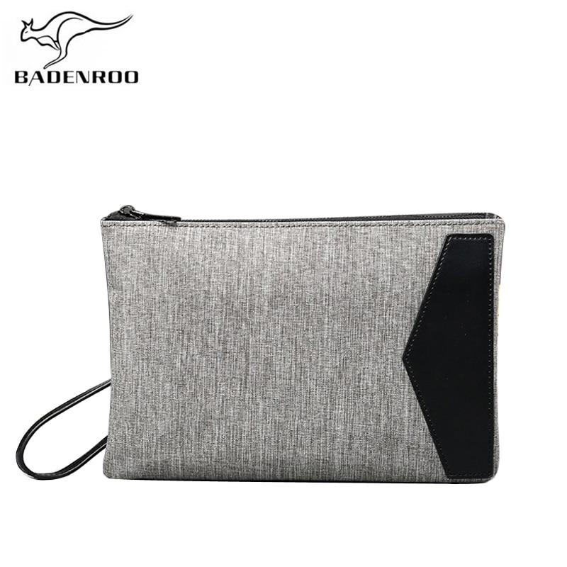 Badenroo, модная серая холщовая мужская сумка-клатч, 2018, деловая Повседневная брендовая Сумка для документов, мужские клатчи для Ipad, простой ...