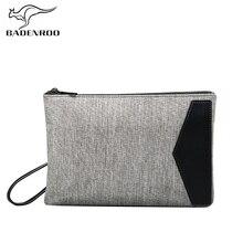 Badenroo Fashion Gray Canvas Men Clutch Bag 2018 Business Ca