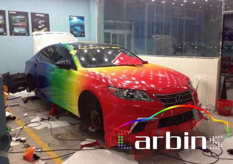 Aliexpress Buy New Design Glossy Rainbow Car Color Vinyl