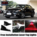 Free Installation For Lexus ES 200 240 250 300 350 / Solar Energy Shark Fin Laser Fog Lamp / Car Decoration LED Warning Lights
