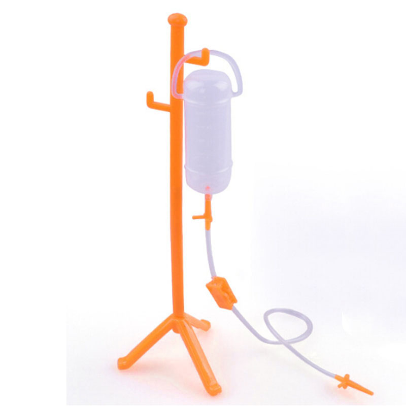 Kids Pretend Doctor Play Set imitate Nurse Role-playing Games Gift Toy orange infusion hanging bottle model Medical toy Juguete
