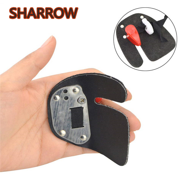Rubber Archery Finger Tab Glove Protector Gear Guard Left Hand Bow Shooting