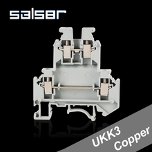 (25PCS) Universal Terminal Blocks UKK3 Copper Connector 2.5mm2 300V 25A DIN Rail Mounted Phoenix Screw Type цены