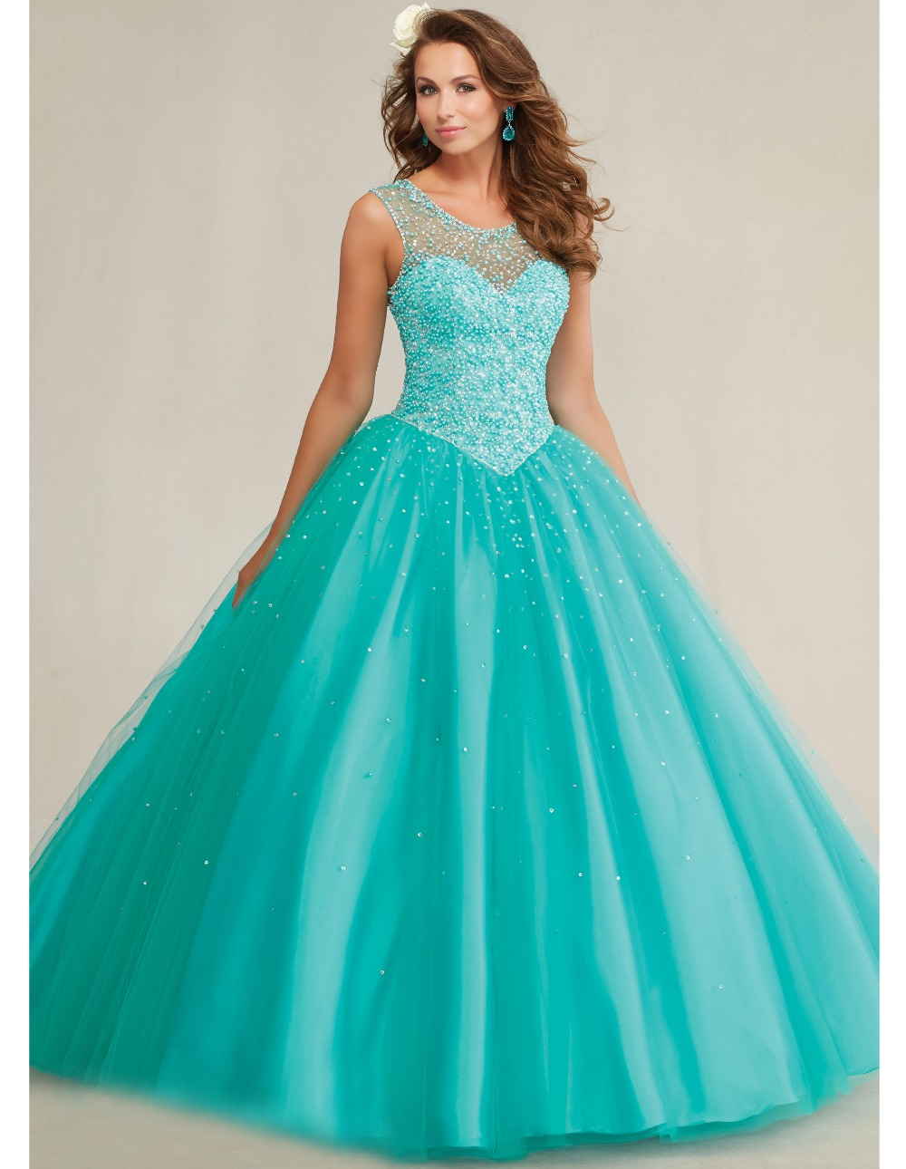 quinceanera 15 years vestidos de 15 anos 2015 blue sweet 16 dresses ...
