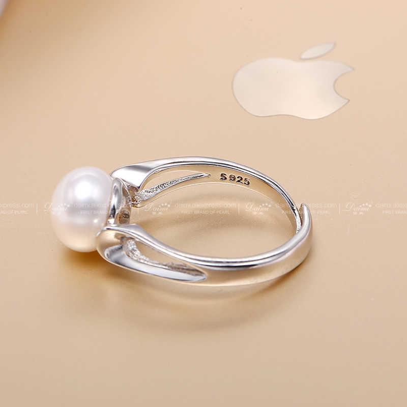 DMRFP066 9-10 มม.สีขาวสีเทาไข่มุกแหวนขนาดเต็มขายส่ง Super Simple Elegant แหวน