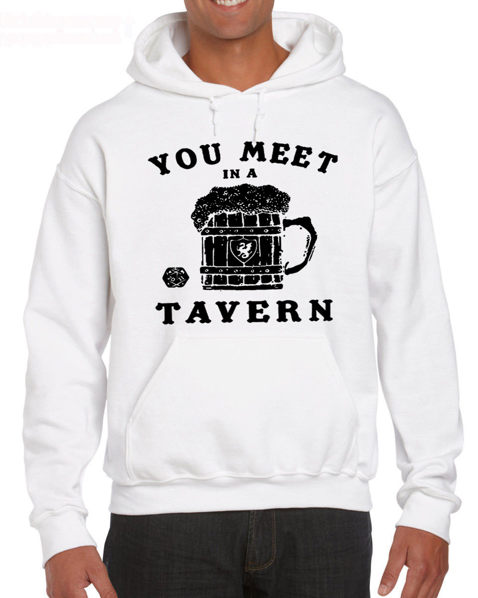 Dungeons Tavern 20 Sided Dice and Magic Dragons Beer Mug The Dungeon Master Fantasy RPG Hoodies Sweatshirt image