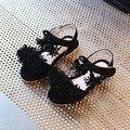Дети сандалии девушки 2017 летний новый кисточкой замши девушка сандалии принцессы обувь удобная квартира нижней детские сандалии
