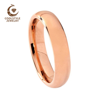 18f6b9e3b0a4 6mm Top Sale Mens Womens Rose Gold Color Plated Tungsten Ring Wedding Band  Flat Comfort Fit