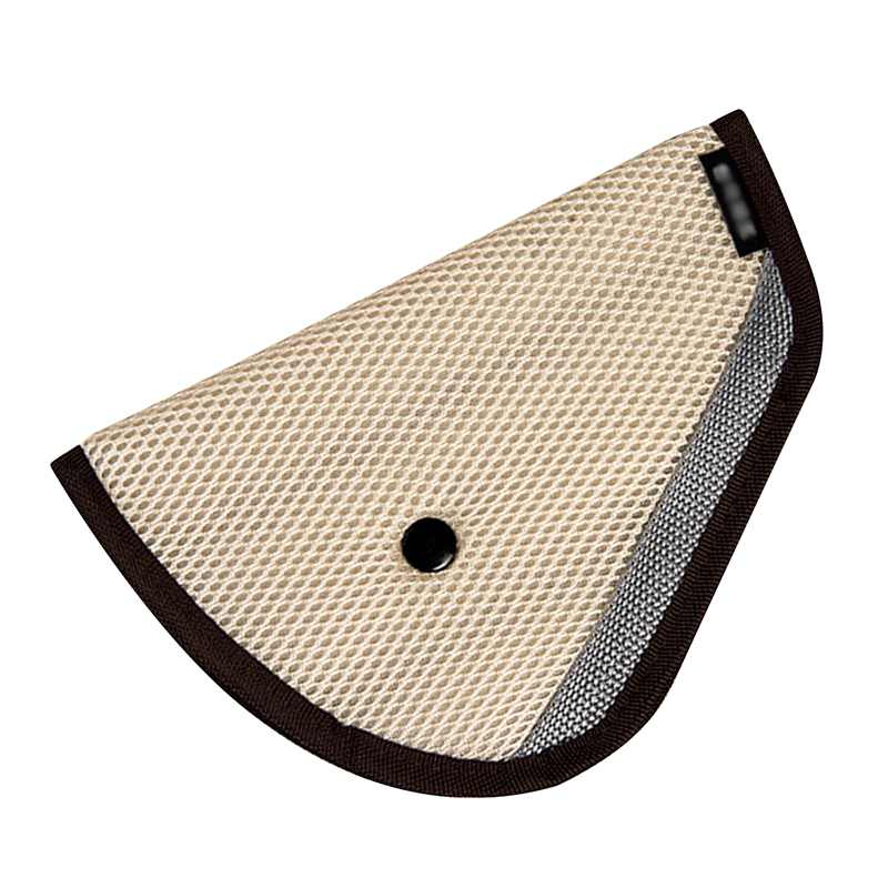 1Pcs (Beige) Car Road Safety Seat Belt Adjuster Car Safety Belt Device Baby Child Protector Positioner Car Seat Cover