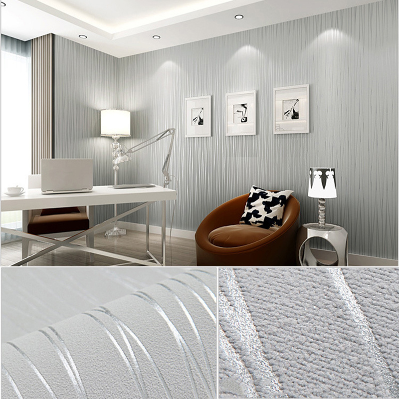 New Self-sticking 53*100cm European Style Non-woven Wallpaper Classic Wall Paper Roll Grey Wallcovering Luxury Wallpaper Floral