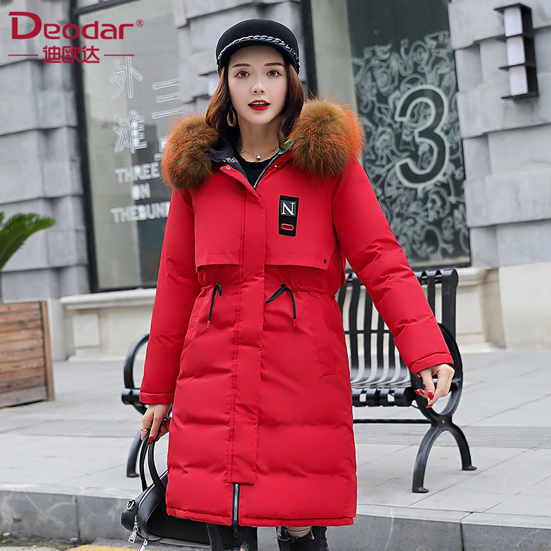 Deodar Winter jacket women 2018 new   coat   thickening warm female   down   jacket hooded long women's parkas   down     coats   Feather
