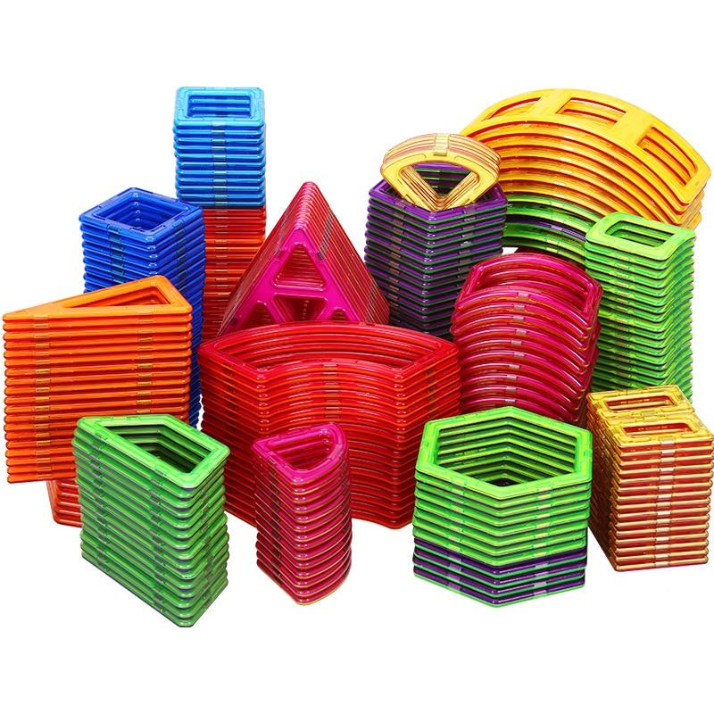 Big Size Magnetic Designer Construction Set Block Model & Magnet Toy Triangle Square Constructor Plastic Boys Girls Gift Rondom