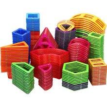 Kit de Construction magnétique de grande taille, modèle de blocs de Construction et aimant de jouets, constructeur de carré Triangle en plastique, cadeau rond pour garçons et filles