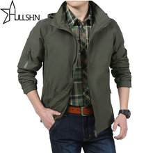 Men jacket jean military Spring Autumn Mens jackets army soldier Washing cotton Air force one male clothing Plus Size 4XL JP5825