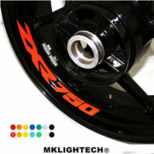 k-sharp 8 X CUSTOM INNER RIM DECALS WHEEL Reflective STICKERS STRIPES FIT KAWASAKI ZXR 750