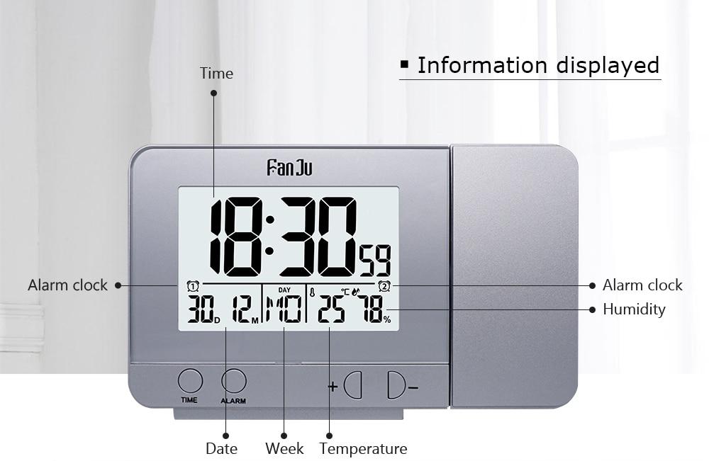 f85a34fba3985 FanJu FJ3531 الإسقاط ساعة تنبيه الرقمية التسجيل غفوة وظيفة الخلفية ...